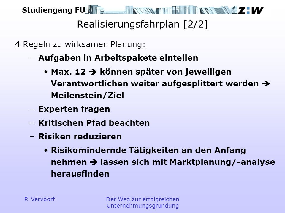 Studiengang FU P.