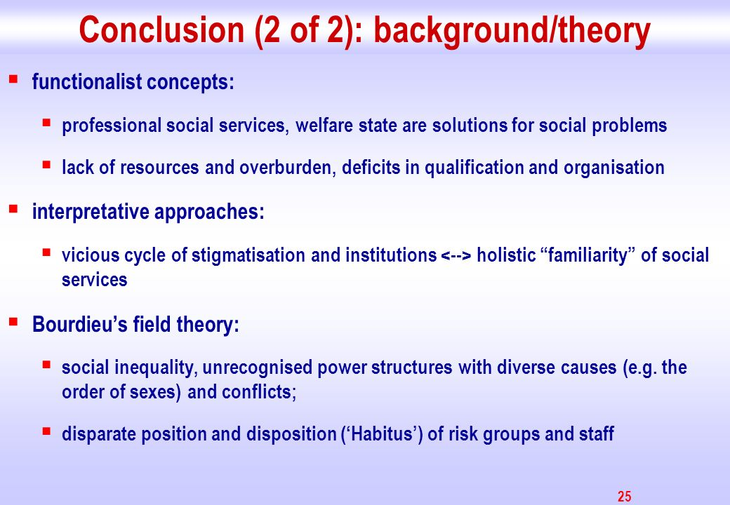 26 Conclusion (3 of 3) draft proposal: Intervention program (improvement of social capital / social integration) RCT (as gold standard) for program evaluation measurement (pre-post/control group-design) social inclusion empowerment and voluntary assistance social capital of elderly (in community)