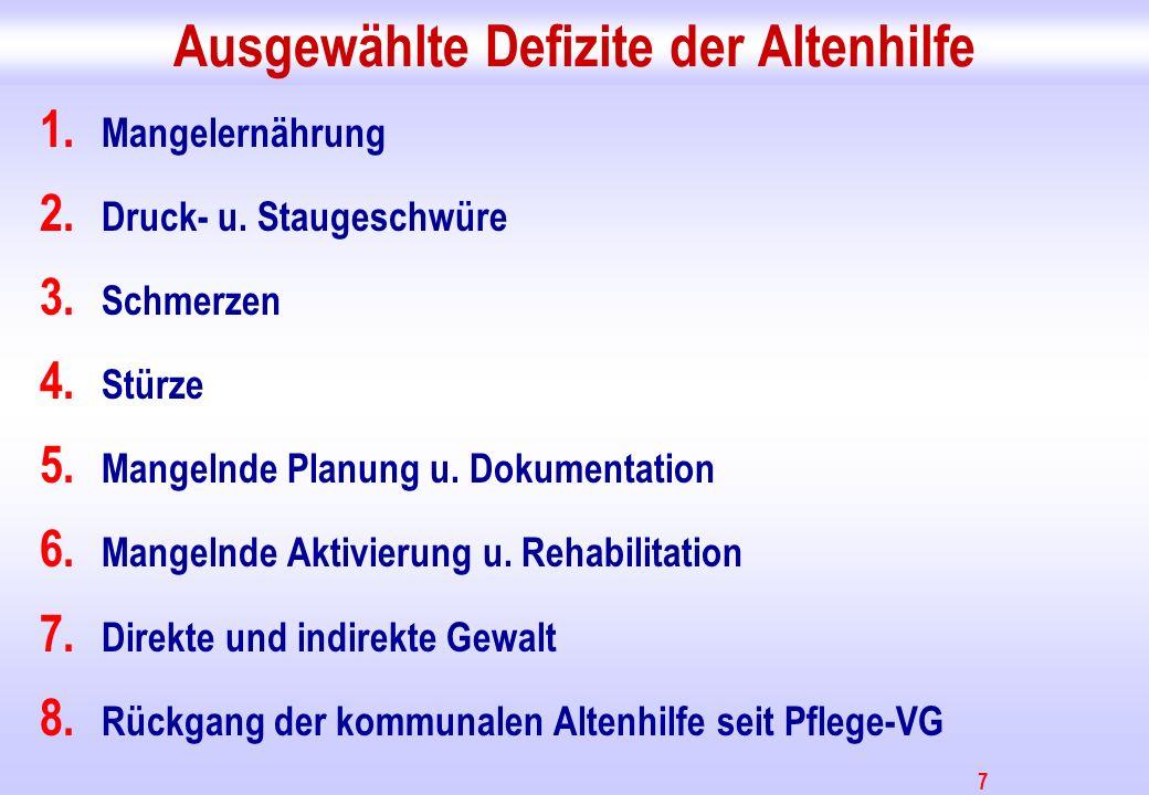 8 Quelle: www.verhungern-im-heim.de (Forum zur Verbesserung der Situation Pflegebedürftiger e.V.