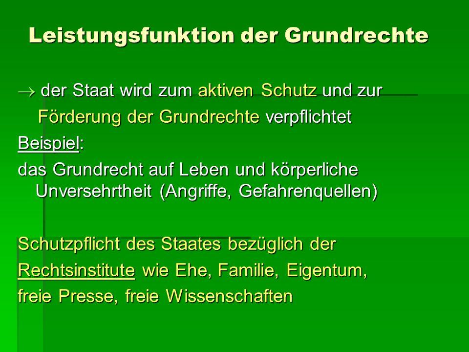 Frage des Gleichheitsprinzips Der allgemeine Gleichheitssatz aus Art.