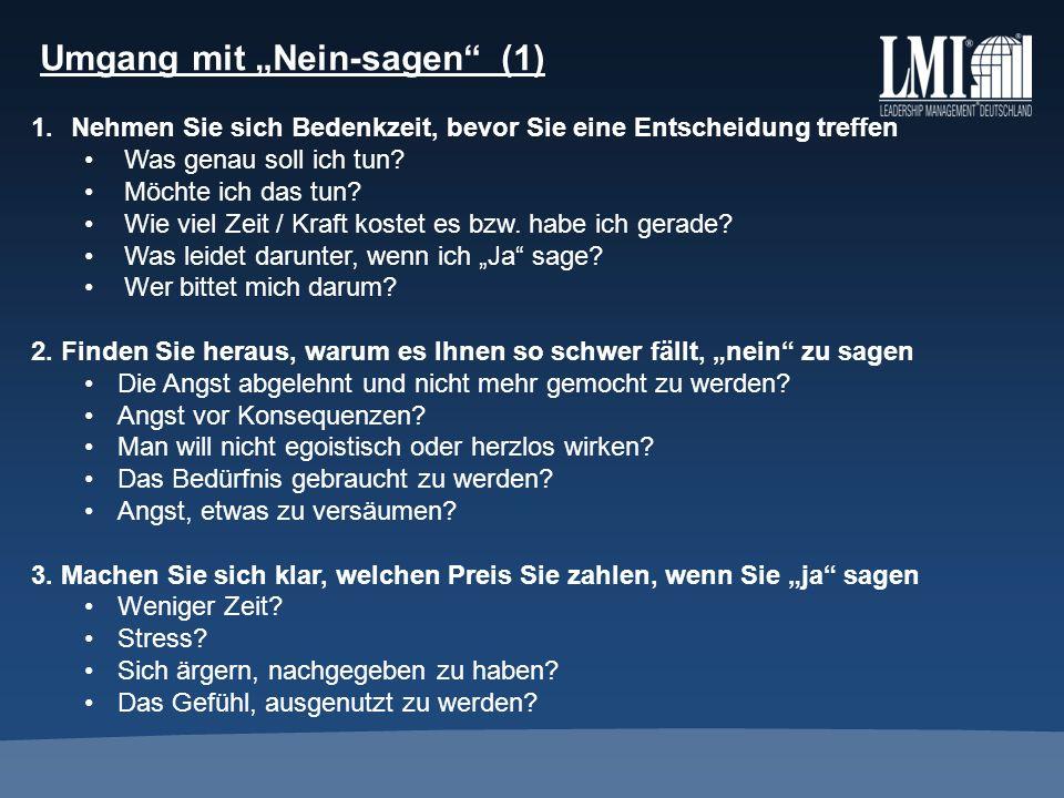 Umgang mit Nein-sagen (2) 4.