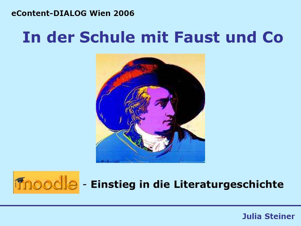 In der Schule mit Faust und Co (c) Julia Steiner2 Idee/ Rahmenbedingungen 4.