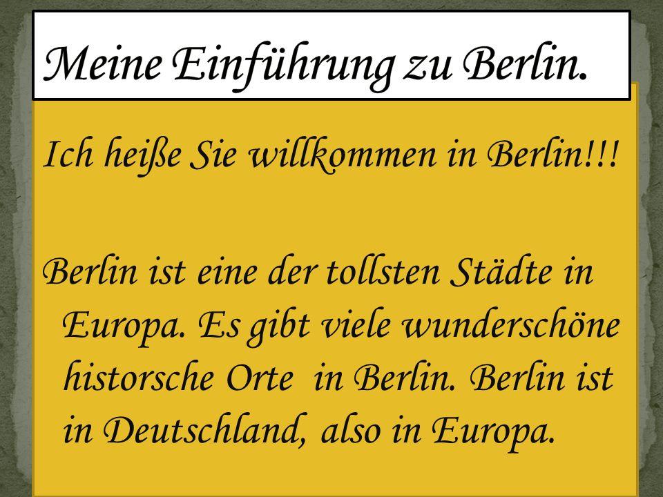 Berlin ist im nördlichen Osten von Deutschland.Berlin ist die grö β te Stadt in Deutschland.