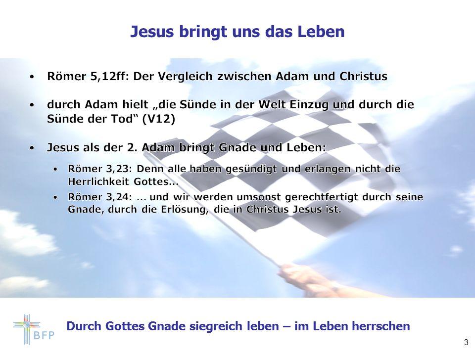 Durch Gottes Gnade siegreich leben – im Leben herrschen Im Leben herrschen 4