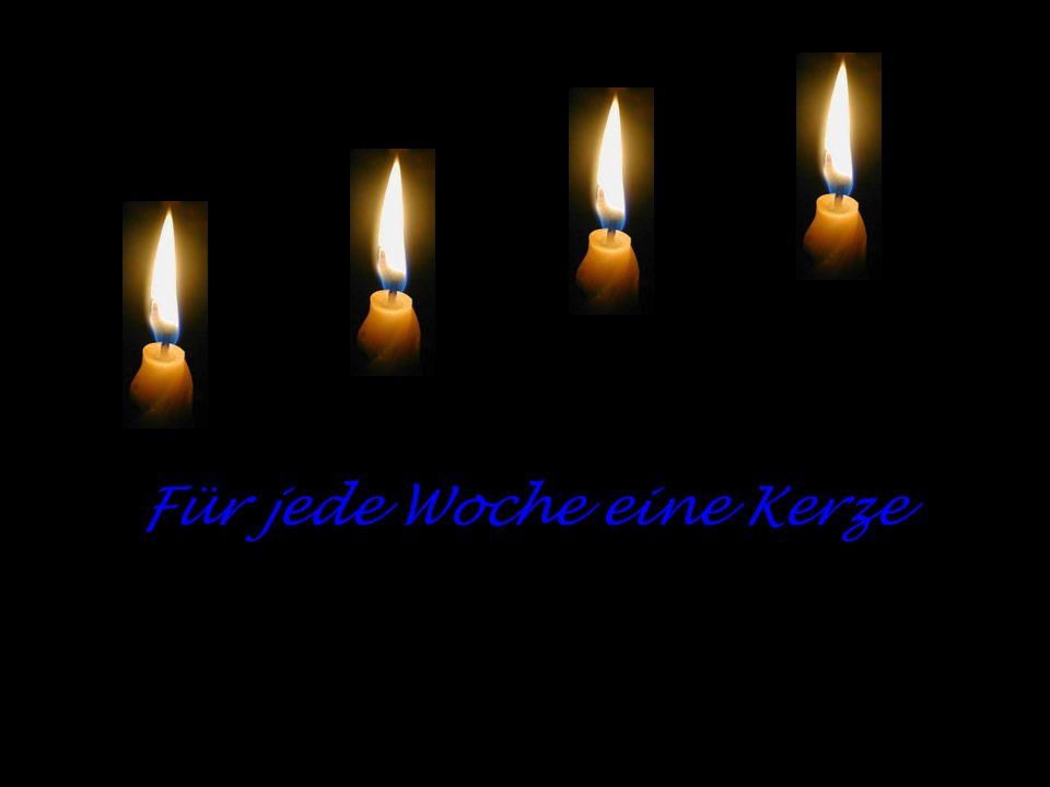 Für jede Woche eine Kerze
