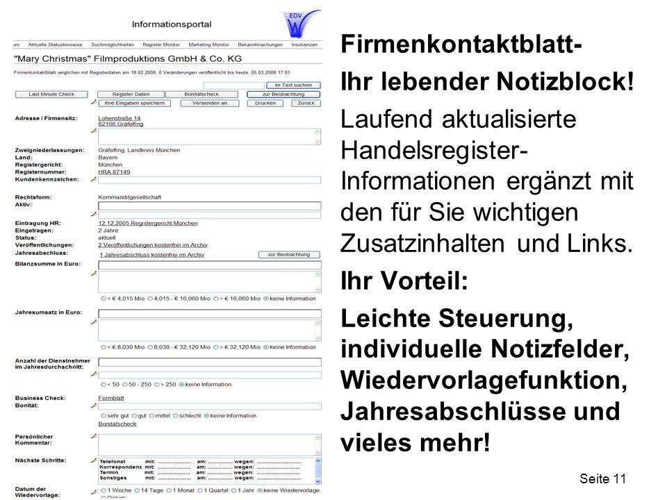 Seite 12 Firmenkontaktblatt- Ihr tagesaktuelles Bilanzarchiv.
