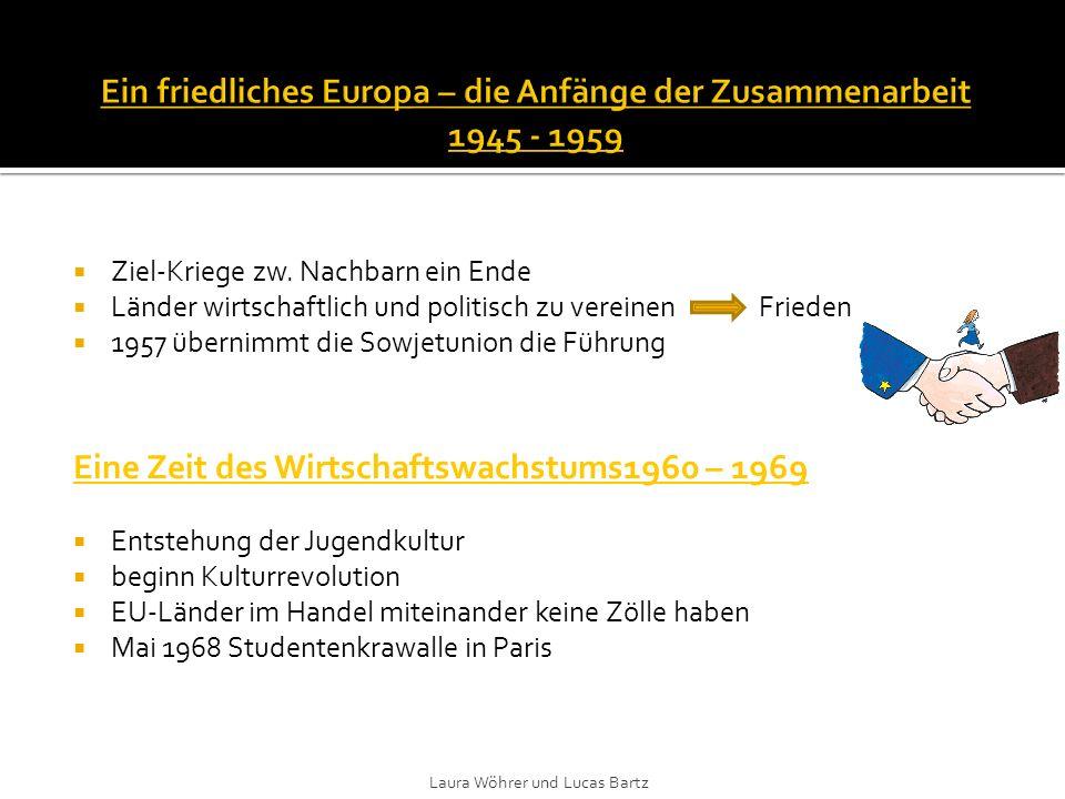 Jetzt 9 Mitgliedsstaaten arabisch-israelische Krieg Energiekrise und Wirtschaftsproblemen in Europa Sturz Salazar-Regimes und Tod von General Franco Ende faschistischen Diktaturen 1980 - 1989 Das Gesicht Europas wandelt sich – Fall der Berliner Mauer 1981 Griechenland -zehnte Mitglied der EU 5 Jahre später- Portugal u.