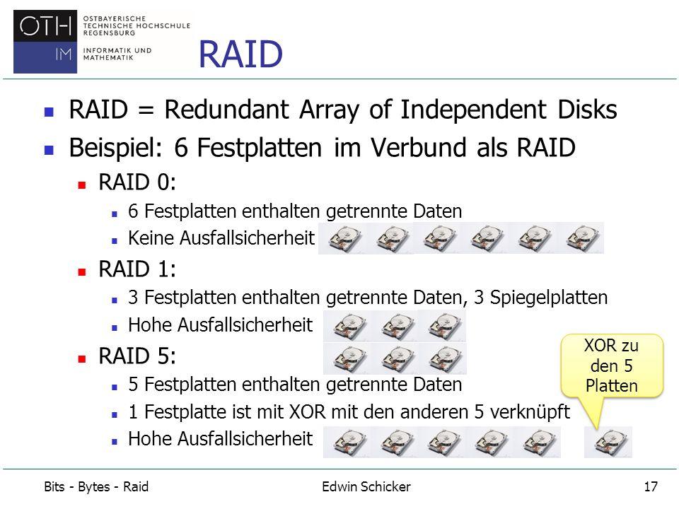 Es gibt auch noch RAID6.Noch sicherer.