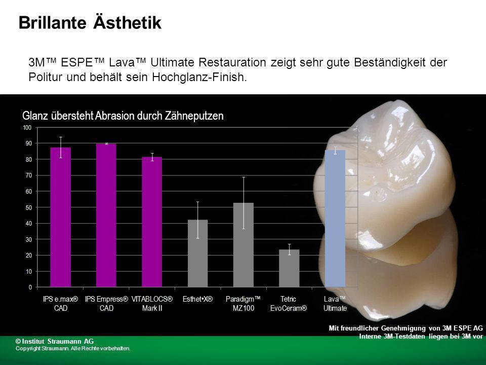 Farbbeständigkeit – 3M ESPE Lava Ultimate Restauration mit guter Farbbeständigkeit, sorgt für gute Farbstabilität.
