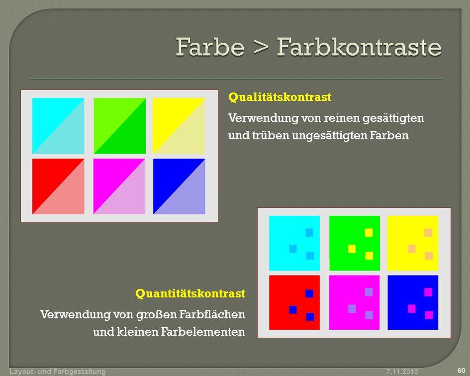 Einheitliche Farbgestaltung Weniger ist mehr (max.