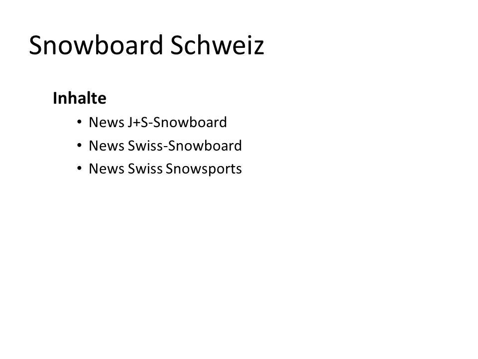 News J+S-Snowboard