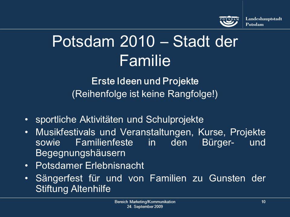 Bereich Marketing/Kommunikation 24.