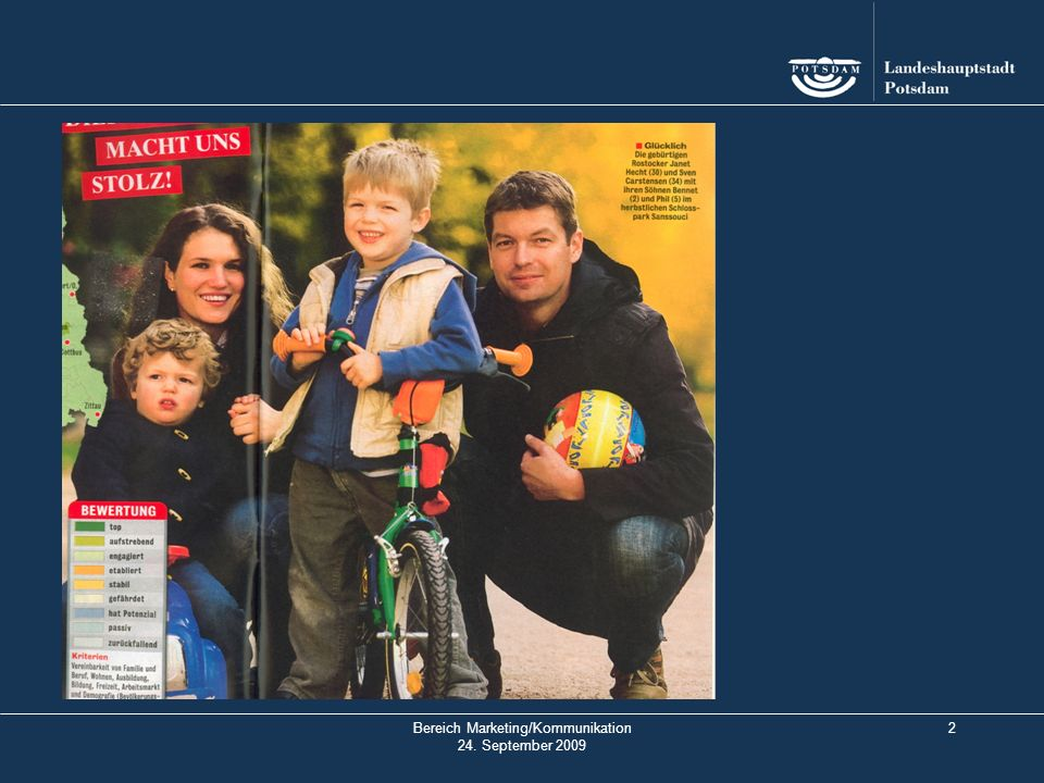 3 Potsdam 2010 – Stadt der Familie 1.Vorstellung des Herangehens der Landeshauptstadt Potsdam 2.Präsentation erster Ideen 3.Diskussion 4.Verabredung des weiteren Vorgehens
