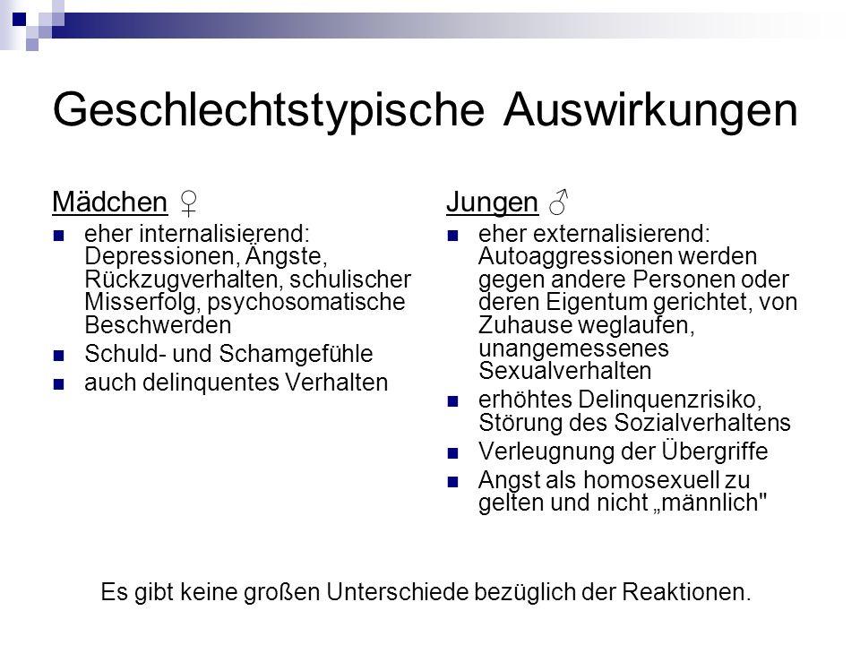 Opfer ohne Symptome in fast allen Studien gibt es symptomfreie Opfer konträre Annahmen: 1.