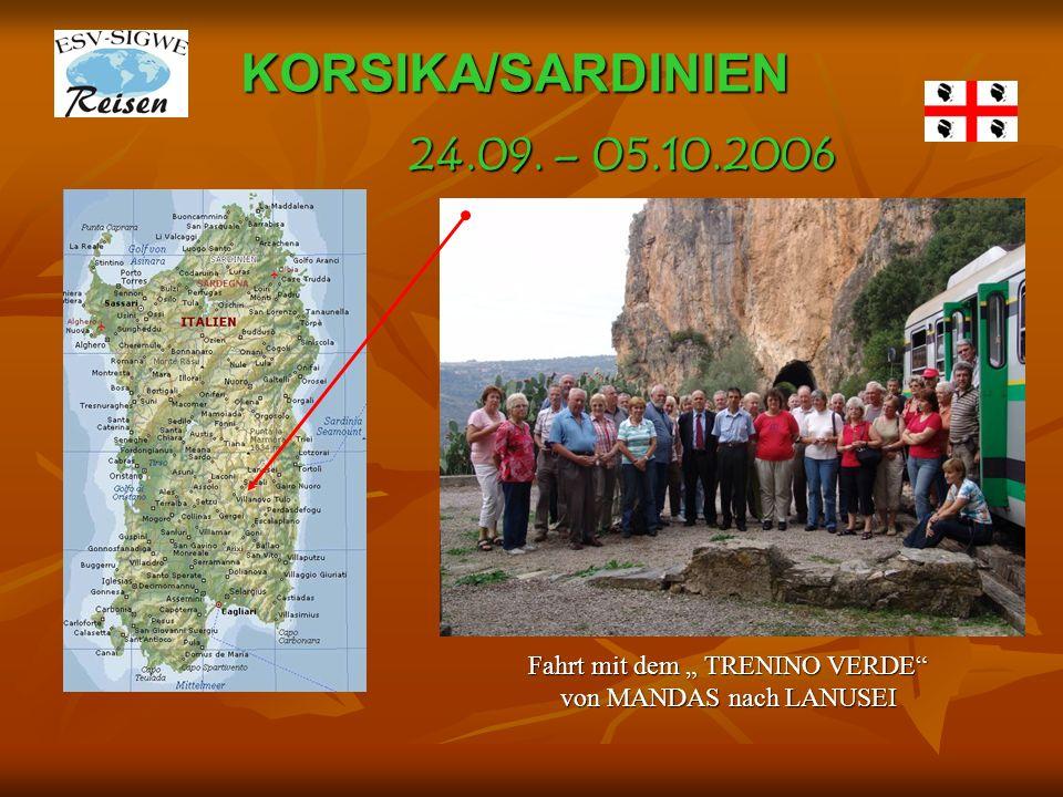 KORSIKA/SARDINIEN Blick von CASTELL-GANDOLFOzum Lago di Albano und in die Albanerberge 24.09.