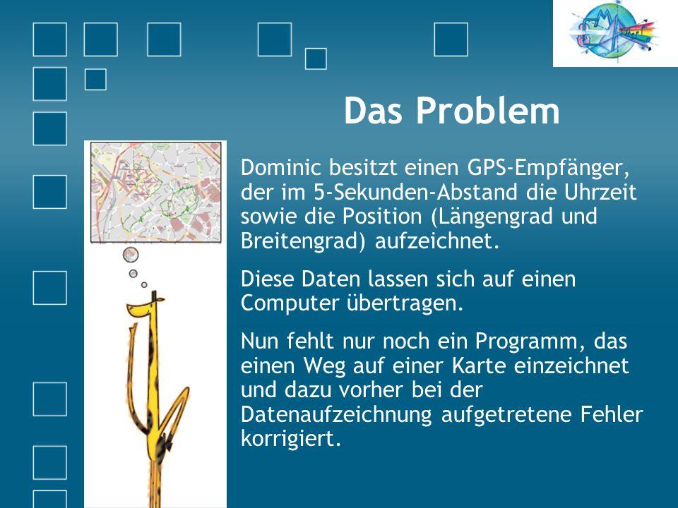 Dominic mit GPS-Empfänger in Aachen