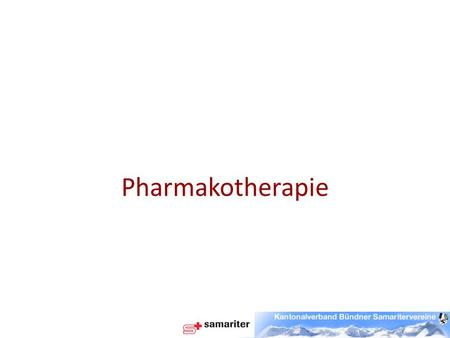 Pharmakotherapie.