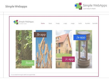 Simple Webapps.