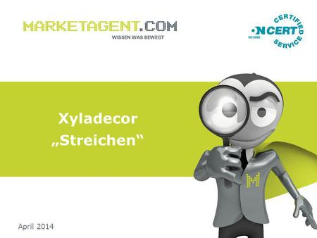 "Xyladecor ""Streichen"" April 2014. Umfrage-Basics/ Studiensteckbrief: 2 _ Methode: Computer Assisted Web Interviews (CAWI) _ Instrument: Online-Interviews."