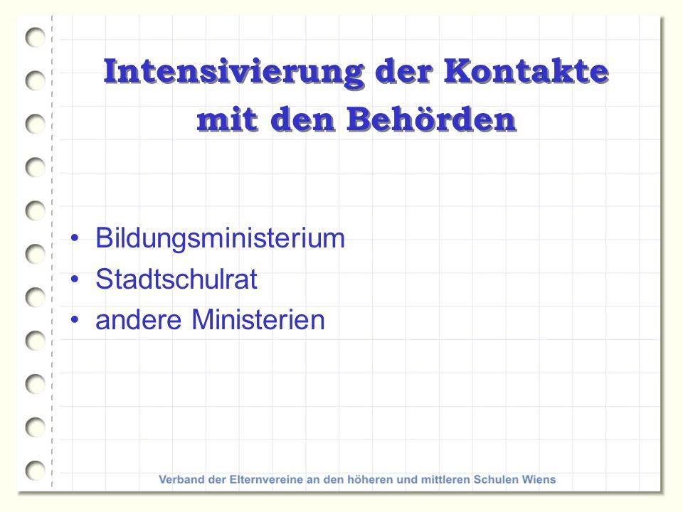 Kontakte mit dem Ausland Initiiert durch das Ministerium: Brünn, Estland Im Rahmen der europäischen Elternorganisation EPA