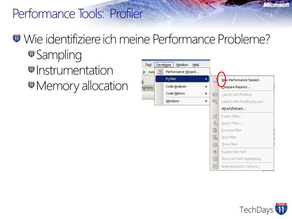 Beispiel-Report Teuerste Funktion Teuerster Pfad der Anwendung Lastspitzen entdecken