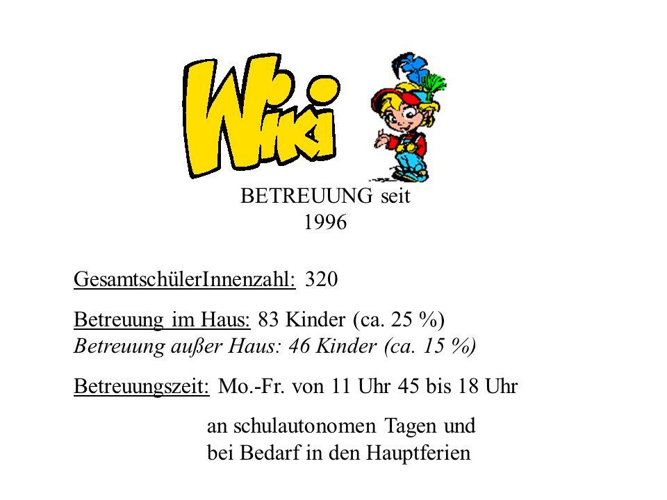 Gruppe I Petra Schiffermüller Mag. Ewald Jost 32 Kinder (6 bis 8 Jahre)