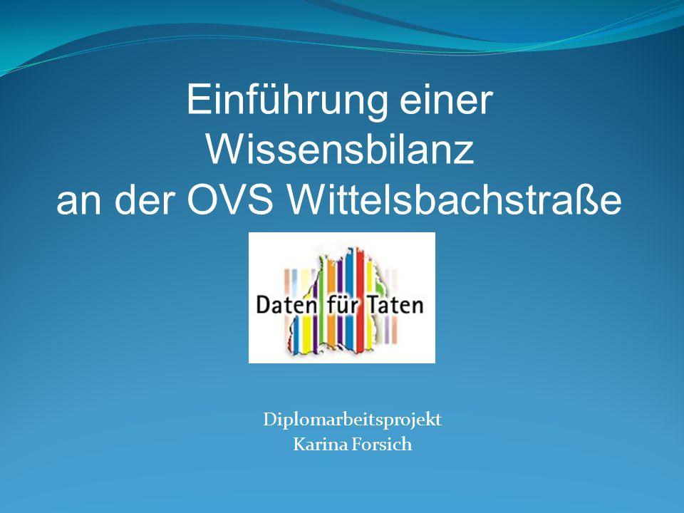 Übersicht: Diplomarbeitstitel: Einführung einer Wissensbilanz an der OVS Wittelsbachstraße 1.