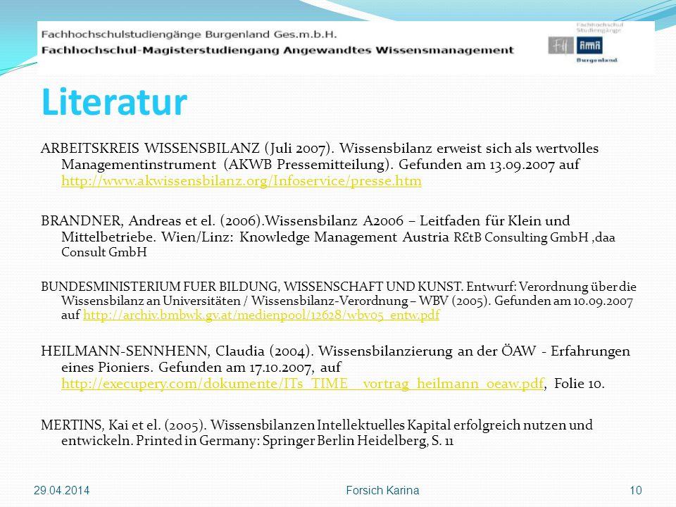 Die komplette Präsentation ist auf meinem e-Portfolio zu finden: http://campusib.fh-burgenland.at/858493.0 Danke für Ihre Aufmerksamkeit.