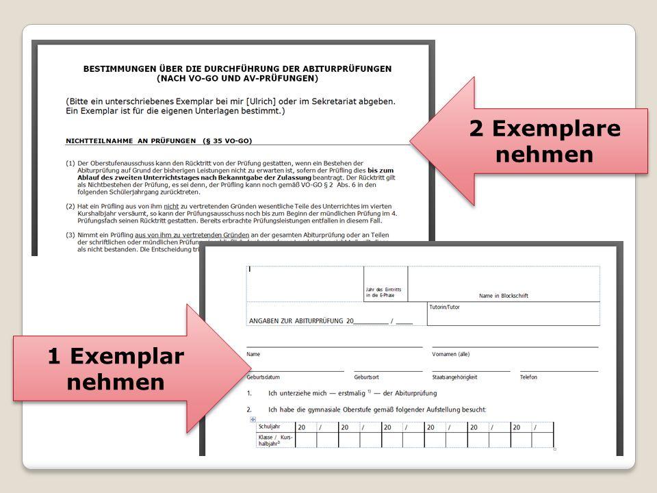 Termine 1 Abiturvordruck Nr.
