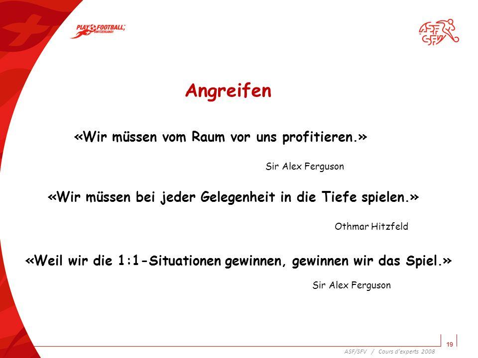 20 Raum und Zeit im modernen Fussball Die Zone des Ballgewinns, die Grundein- stellung und der 1.