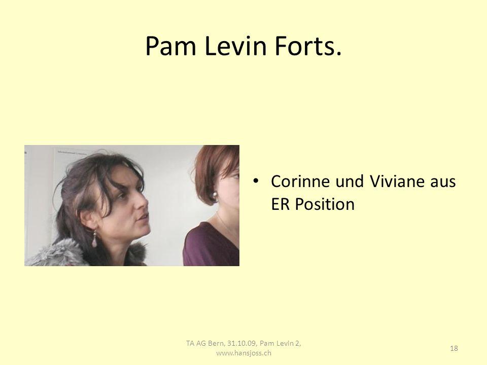 Pam Levin Forts. Viviane als Führende TA AG Bern, 31.10.09, Pam Levin 2, www.hansjoss.ch 19