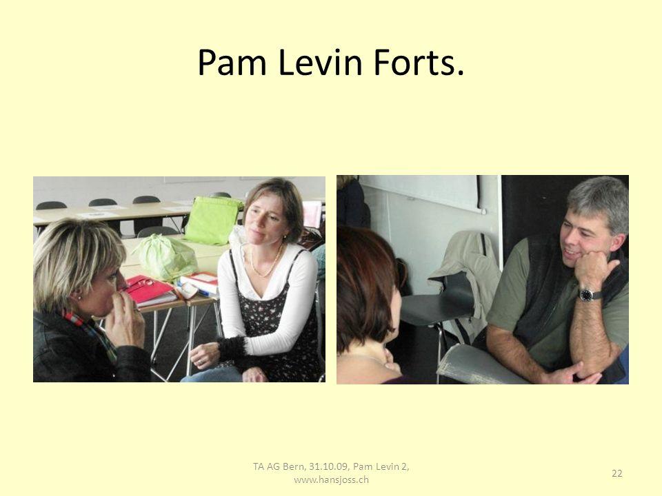 Intervision von Barbara Corinne strukturiert die Intervision 23 TA AG Bern, 31.10.09, Pam Levin 2, www.hansjoss.ch