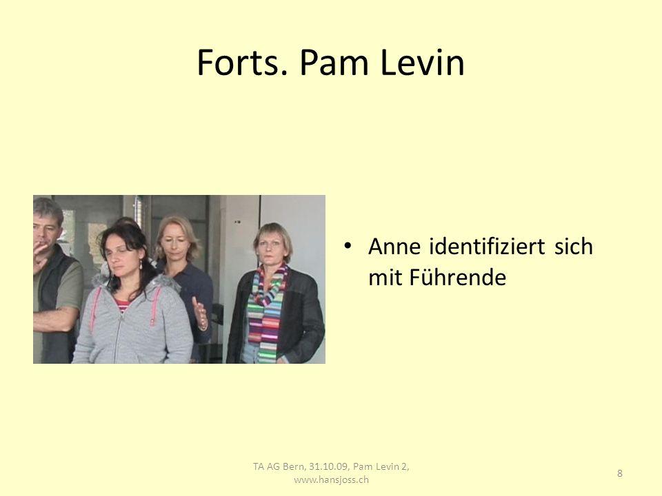 Pam Levin Verena als Führende, beeil dich! 9 TA AG Bern, 31.10.09, Pam Levin 2, www.hansjoss.ch