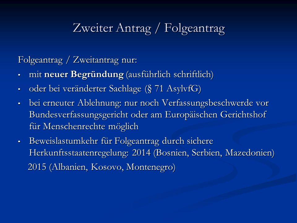 Kurzer Überblick: Aufenthaltstitel Aufenthaltserlaubnis (Zweckgebunden) Aufenthaltserlaubnis (Zweckgebunden) Visum (Schengen/nationales Visum: Zweck Visum (Schengen/nationales Visum: Zweck Familiennachzug /Heirat/ Arbeit/medizinisches Visum / Touristenvisum Familiennachzug /Heirat/ Arbeit/medizinisches Visum / Touristenvisum Blaue Karte EU (§19a) Blaue Karte EU (§19a) Niederlassungserlaubnis, § 9 Niederlassungserlaubnis, § 9 Daueraufenthalt EG Daueraufenthalt EG EU Bürger (Freizügigkeits-RL EU ) EU Bürger (Freizügigkeits-RL EU )