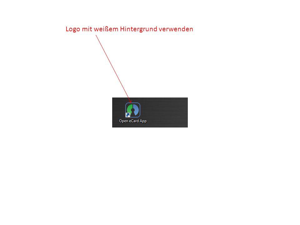 Gleiche Schriftgröße Logo mit weißem Hintergrund verwenden