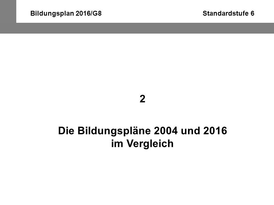 """Bildungsplan 2016/G8 Standardstufe 6 vor 2004: Landeskunde: """"Kenntnisse und Einsichten"""