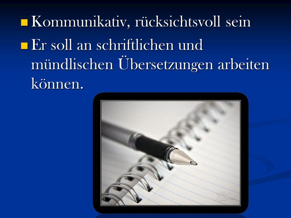 Dolmetscher ist ein Sonderberuf und hat seine Vorteile und Nachteile.