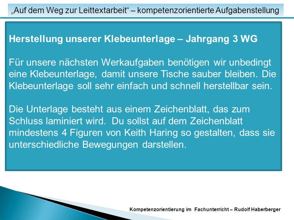 """Fachspezifische Unterrichtsmodelle """"Auf dem Weg zur Leittextarbeit – kompetenzorientierte Aufgabenstellung Kompetenzorientierung im Fachunterricht – Rudolf Haberberger Arbeitsauftrag: Erstellen Sie einen Leittext zu einem frei gewählten Thema aus dem Grund- oder Mittelschulbereich Ihrer Fächer."""