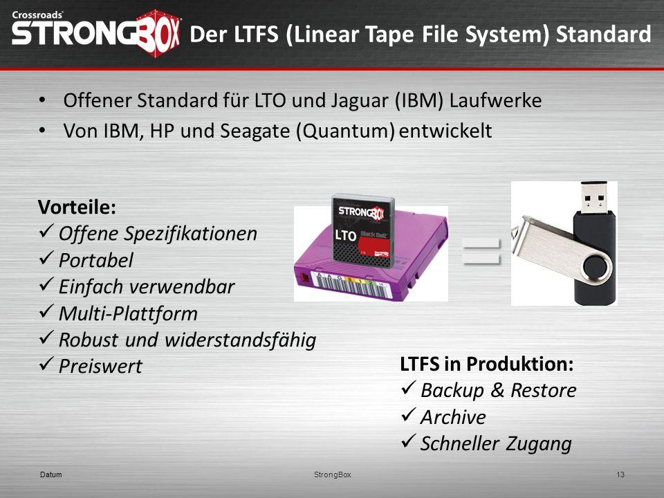 Der LTFS (Linear Tape File System) Standard