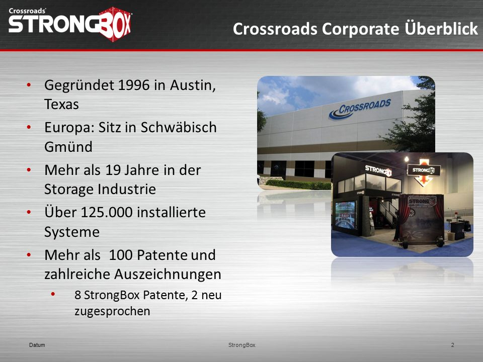 Crossroads Corporate Überblick
