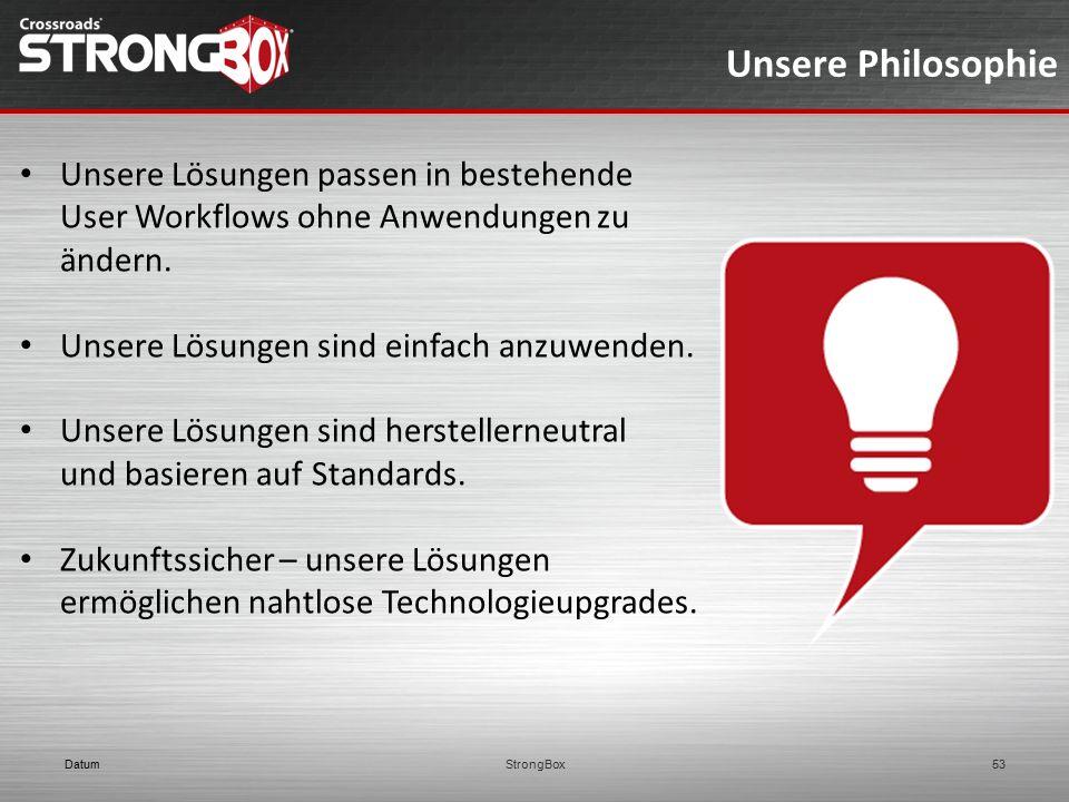 Unsere Philosophie Unsere Lösungen passen in bestehende User Workflows ohne Anwendungen zu ändern.