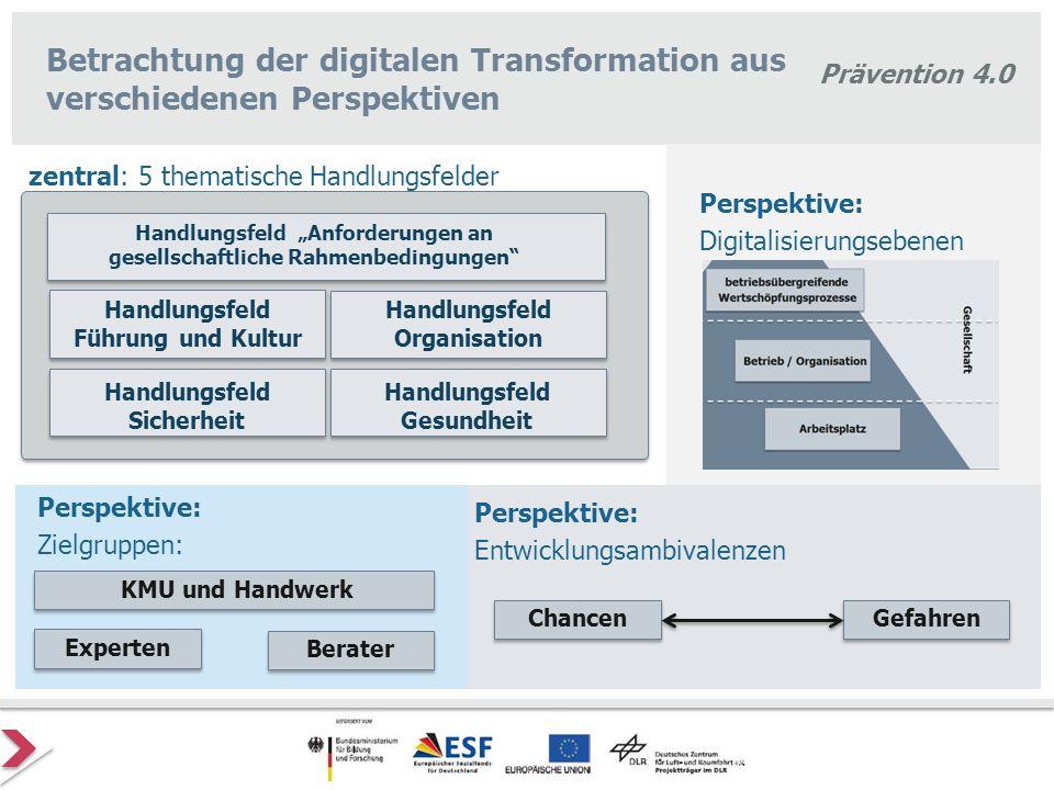 Betrachtung der digitalen Transformation aus verschiedenen Perspektiven