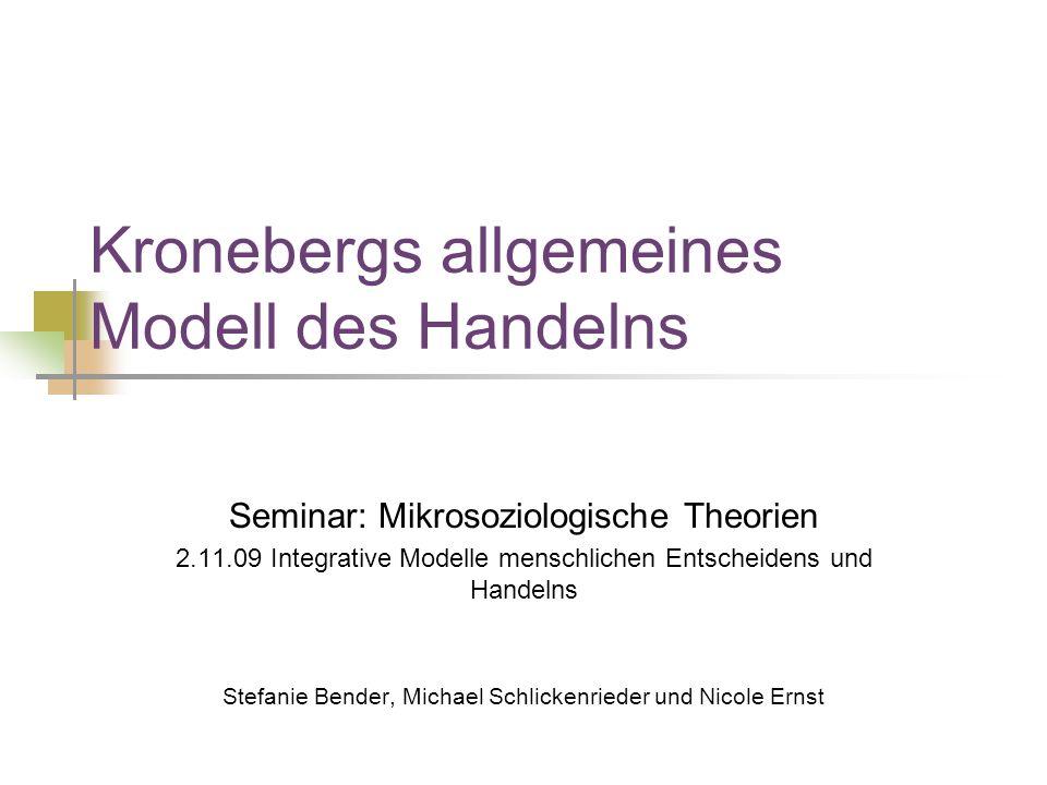 Kronebergs allgemeines Modell des Handelns