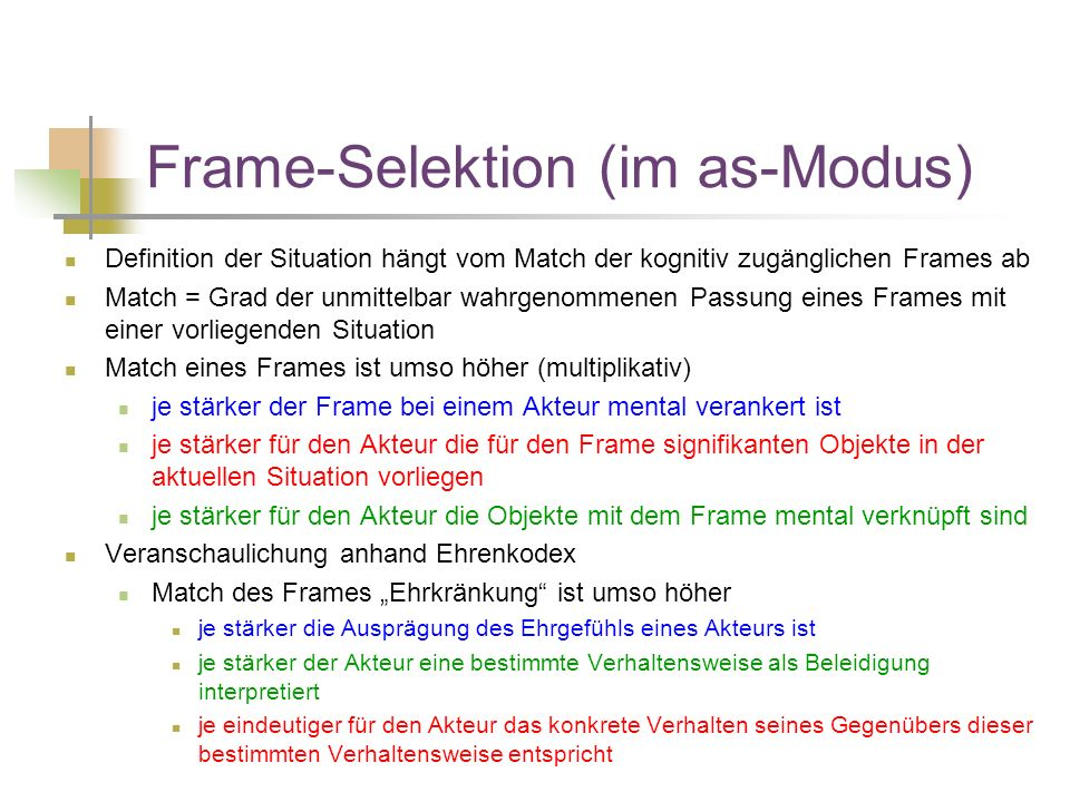 Frame-Selektion (im as-Modus)