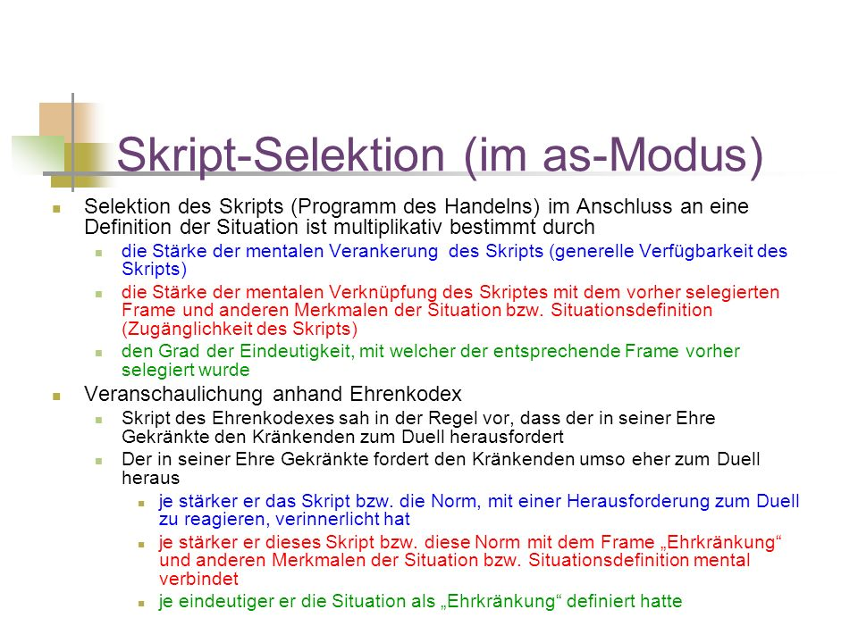 Skript-Selektion (im as-Modus)
