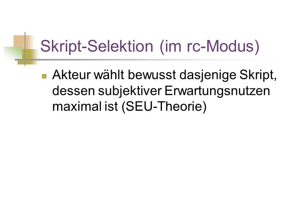 Skript-Selektion (im rc-Modus)