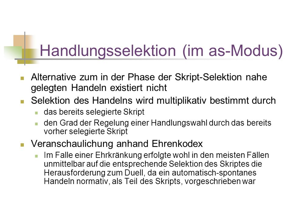 Handlungsselektion (im as-Modus)