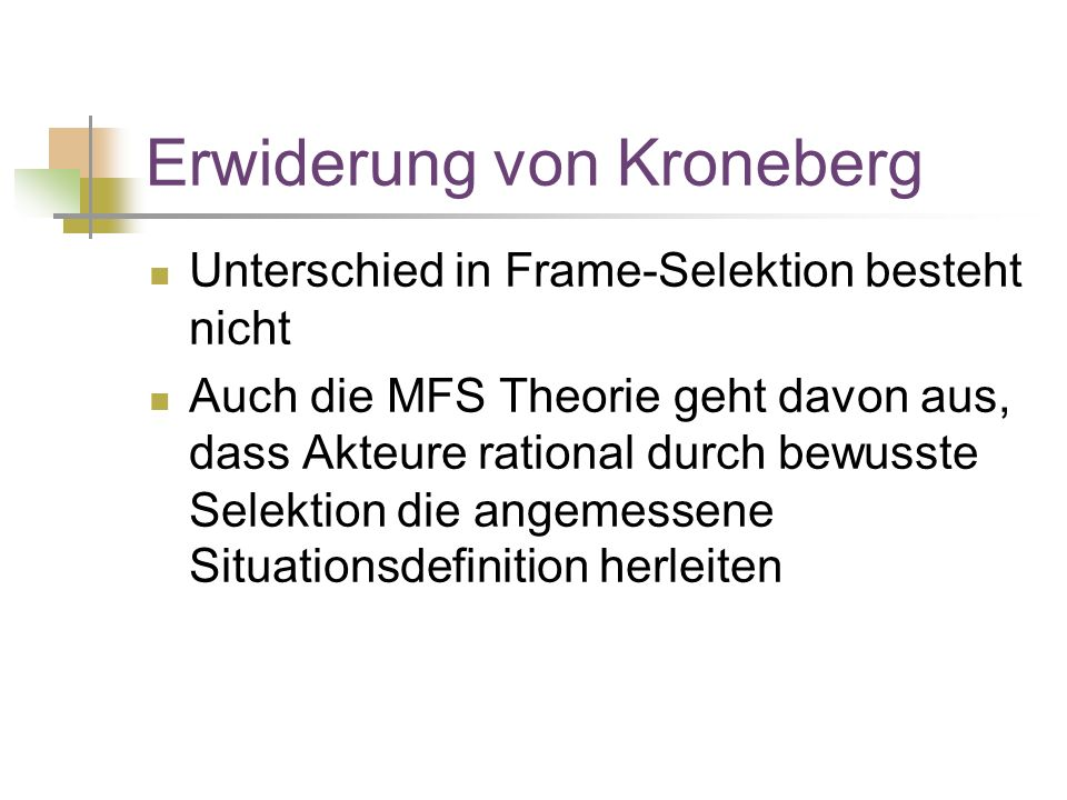 Erwiderung von Kroneberg