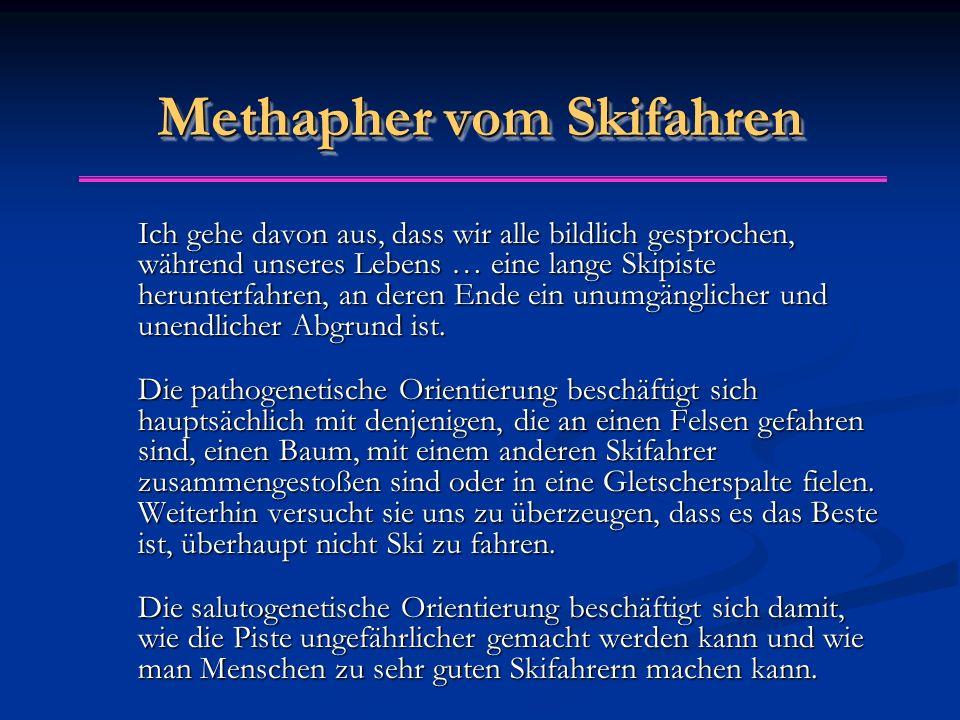 Methapher vom Skifahren