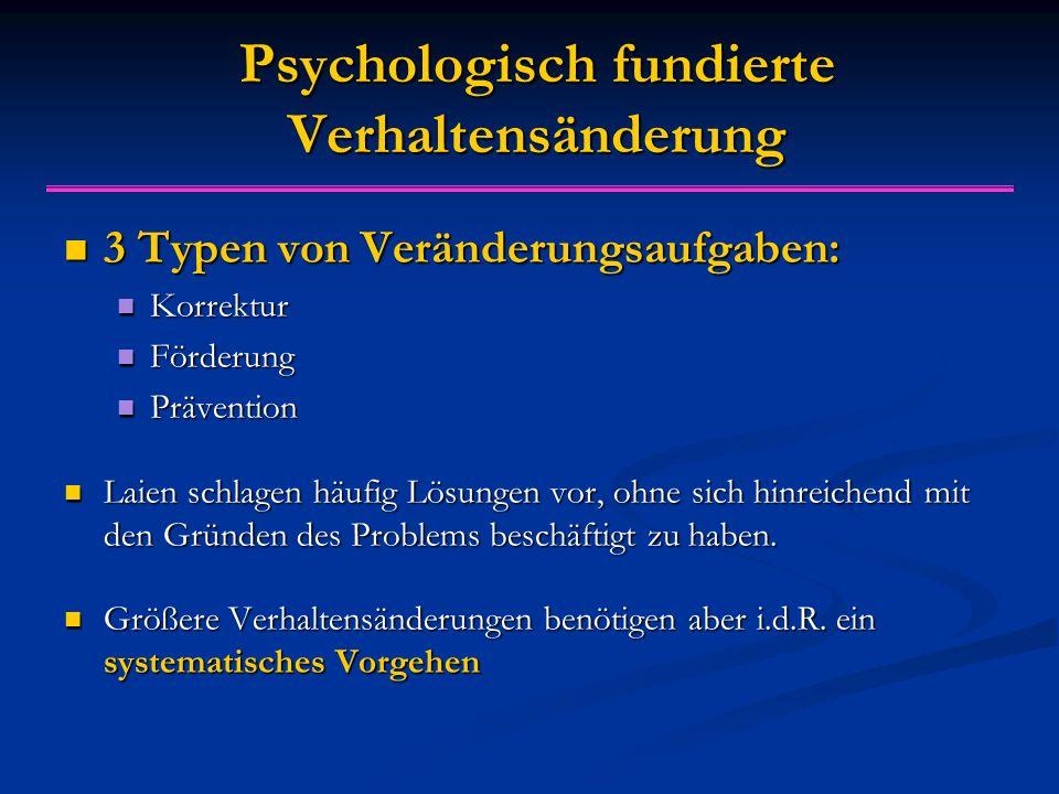 Psychologisch fundierte Verhaltensänderung